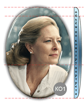 Фото 1 портрета на памятник из керамики с объёмным изображением